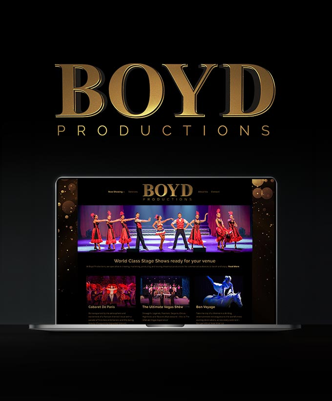 Website Design for Boyd Productions
