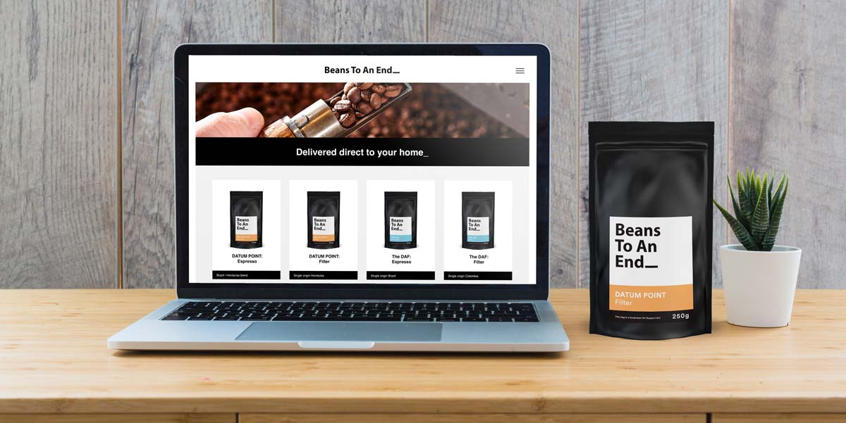 Website Design for Beans To An End Coffee Subscriptions