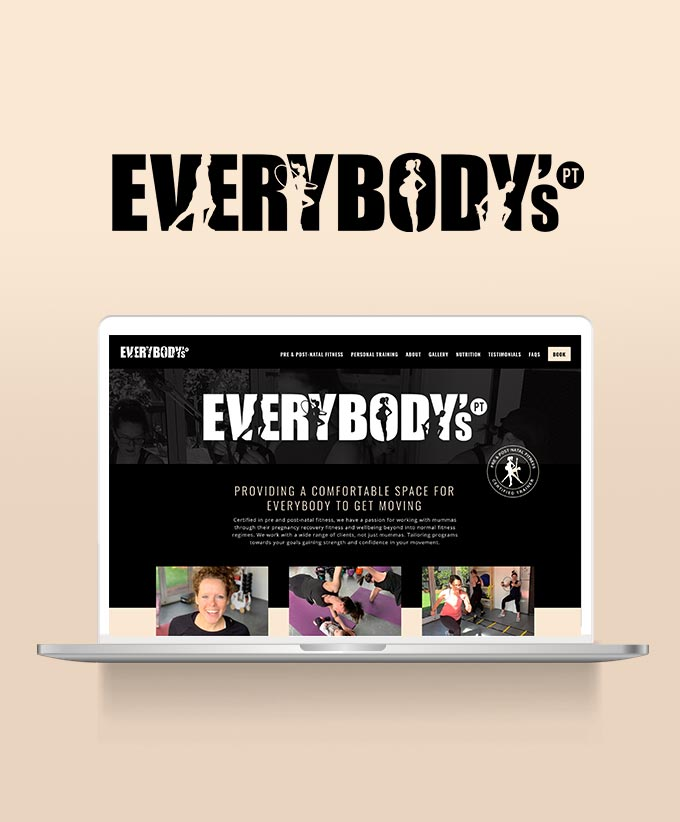 Website Design for Everybody's PT | Pre & Post-Natal Exercise