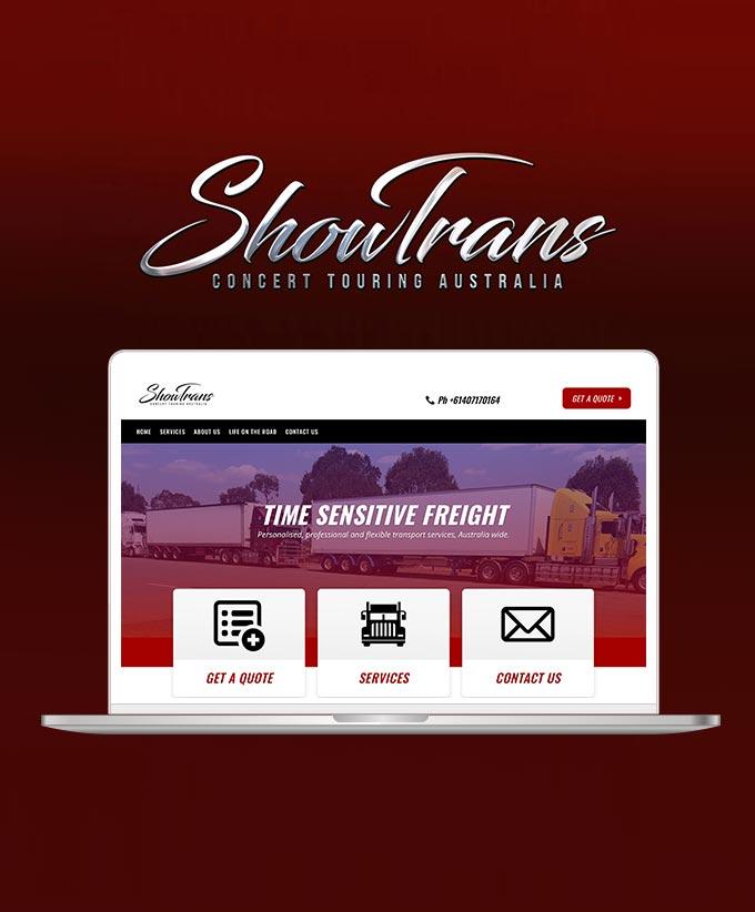Website Design for Showtrans Concert Touring